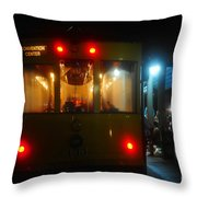 Trolley Car Throw Pillow