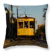 Trolley Ride Throw Pillow