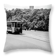 Trolley With Cloisters Throw Pillow