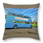 Trolleybus 862 Throw Pillow