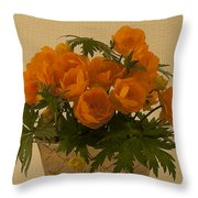 Trollius  Throw Pillow