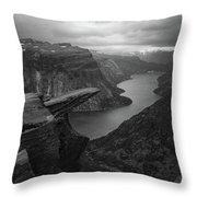 Trolltunga In Morning Light Throw Pillow