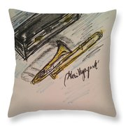 Trombone Throw Pillow