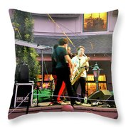 Trombone Shorty And Orleans Avenue, Freeport, Maine   -57584 Throw Pillow