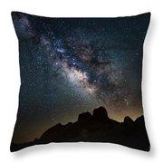 Trona Pinnacles Galactic Core Throw Pillow