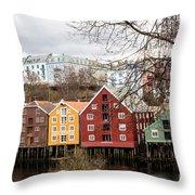 Trondheim Colors Throw Pillow