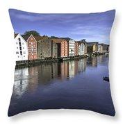 Trondheim Norway Throw Pillow