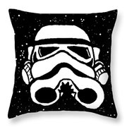 Trooper On Starry Sky Throw Pillow