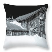 Trophies Mounted On Nostalgia, Selenium Tone  Throw Pillow