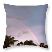 Tropic Rainbow In Florida Throw Pillow