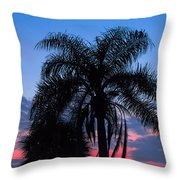 Tropic Sunset In Floirida Throw Pillow