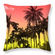 Tropical 9 Throw Pillow