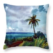 Tropical Afternoon Throw Pillow
