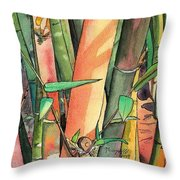Tropical Bamboo Throw Pillow