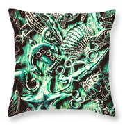 Tropical Bay Elements Throw Pillow