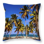 Palms On The Beach Throw Pillow