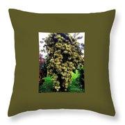 Tropical Bush Throw Pillow