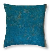 Tropical Palms Canvas Teal Blue - 16x20 Hand Painted Throw Pillow