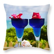 Tropical Cocktails Throw Pillow