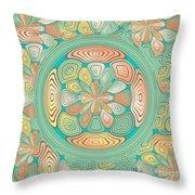 Tropical Color Abstract Throw Pillow