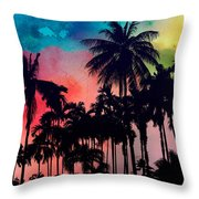 Tropical Colors Throw Pillow