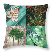 Tropical Dance Square By Madart Throw Pillow