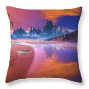 Tropical Dream Island Beach Throw Pillow