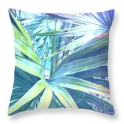Tropical Dreams In Pastel Purple-blue Throw Pillow