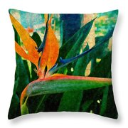 Tropical Eden Throw Pillow