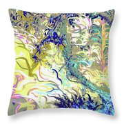 Tropical Essence Throw Pillow