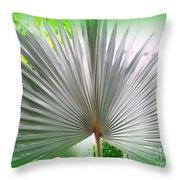 Tropical Fan Throw Pillow