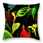 Tropical Flock Throw Pillow