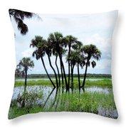 Tropical Flooding Throw Pillow