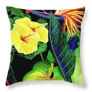Tropical Flower Arrangement #251 Throw Pillow