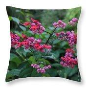 Tropical Flower Flow Throw Pillow