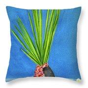 Tropical Flowers Still Life #218 Throw Pillow
