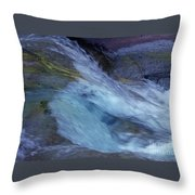 Tropical Flowing Waters  Throw Pillow
