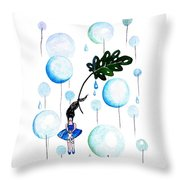 Tropical Fly Throw Pillow