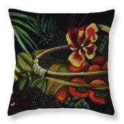 Tropical Fruit Throw Pillow