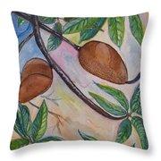 Tropical Fruit Mamey Throw Pillow