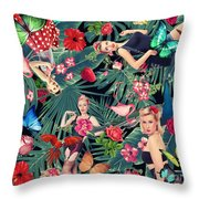 Tropical Fun Sexy  Throw Pillow