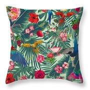 Tropical Fun Time  Throw Pillow by Mark Ashkenazi