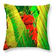 Tropical Fusion Throw Pillow