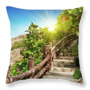Tropical Garden Throw Pillow by MotHaiBaPhoto Prints