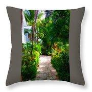 Tropical Garden Passage Throw Pillow