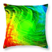 Tropical Gemstone Throw Pillow
