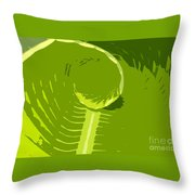 Tropical Green Throw Pillow
