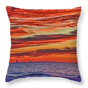 Tropical Gulf Nights Throw Pillow