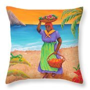 Tropical Harvest Throw Pillow