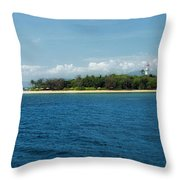 Tropical Island Dream Throw Pillow